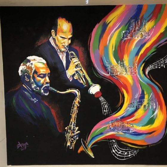 Jazz musician mural